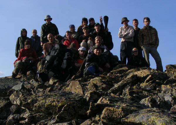 На вершине Уймень. Высота 2700 метров над уровнем моря. Горный Алтай.Маршрут 77.